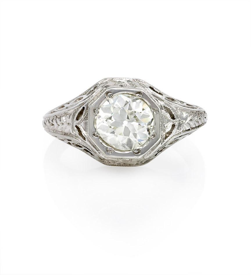 Kentshire :  engagement platinum eight octagon